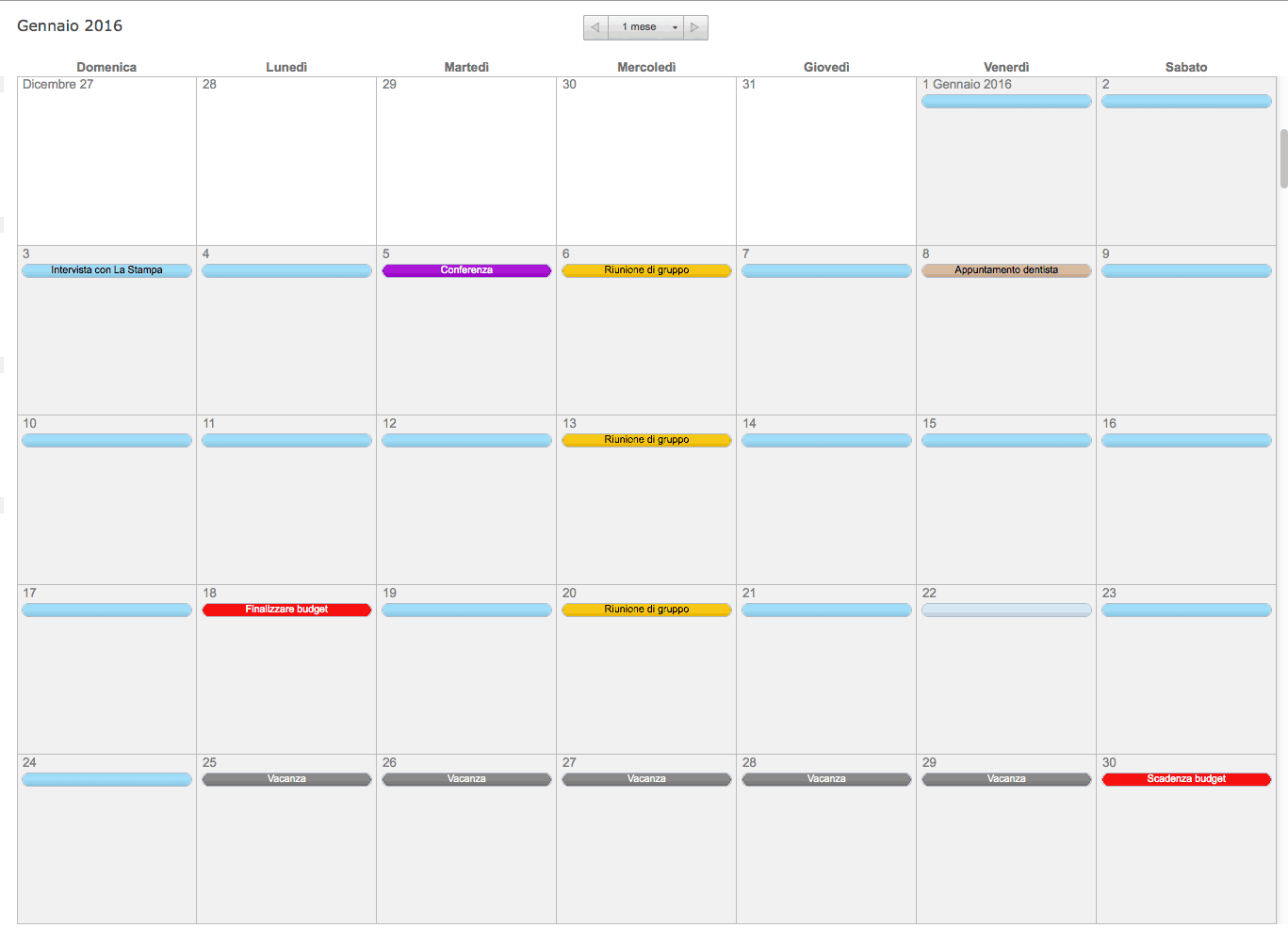 Calendario 2020 Da Stampare Semestrale.Modelli Excel Gratuiti Per La Pianificazione