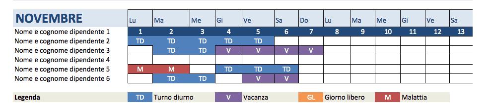 Calendario Presenze Excel.Modelli Excel Gratuiti Per Le Risorse Umane