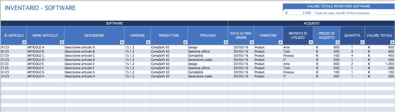 Modelli Excel Gratuiti Per Inventario