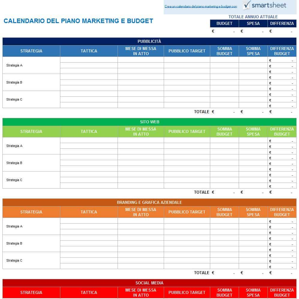 Controllo Calendario Excel 2020.9 Modelli Di Calendari Di Marketing Gratuiti Di Excel