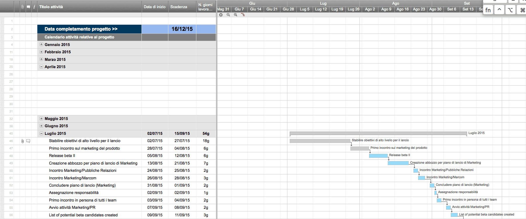 Calendario Con Numero Settimane.Modelli Excel Gratuiti Per La Pianificazione