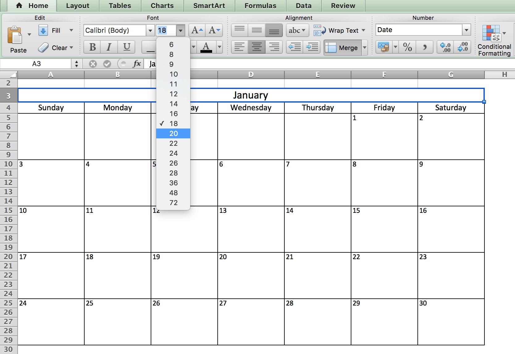 Controllo Calendario Excel 2020.Modelli Di Calendario Excel Gratuiti E Stampabili Per Il