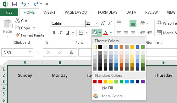 Calendario 2019 Con Numero Di Settimana.Modelli Di Calendario Excel Gratuiti E Stampabili Per Il